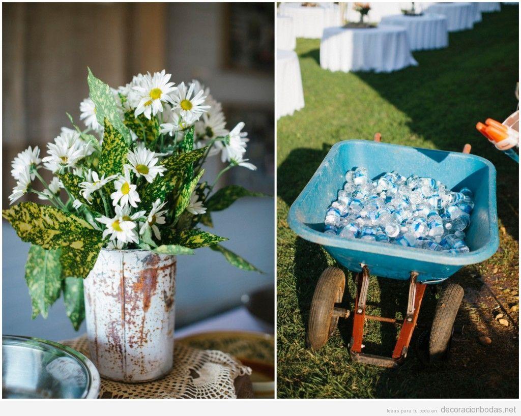 ideas originales para decorar una boda estilo rstico en el jardn
