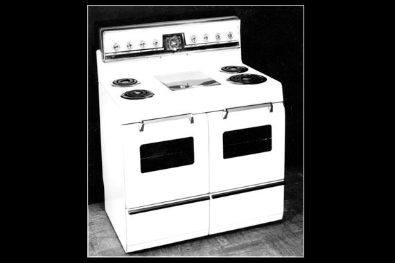 Beautiful, but Dense    A classic 1950s stove, such as this RCA-Whirlpool electric range, could easily weigh 400 or more pounds.
