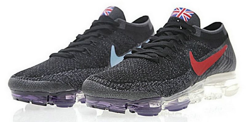 more photos 1531f 72f8f Nike Air VaporMax Flyknit Black Varsity Red Blue 849558-018   campshoesshop.com  Pinterest  Nike air vapormax、Nike air 和 Nike