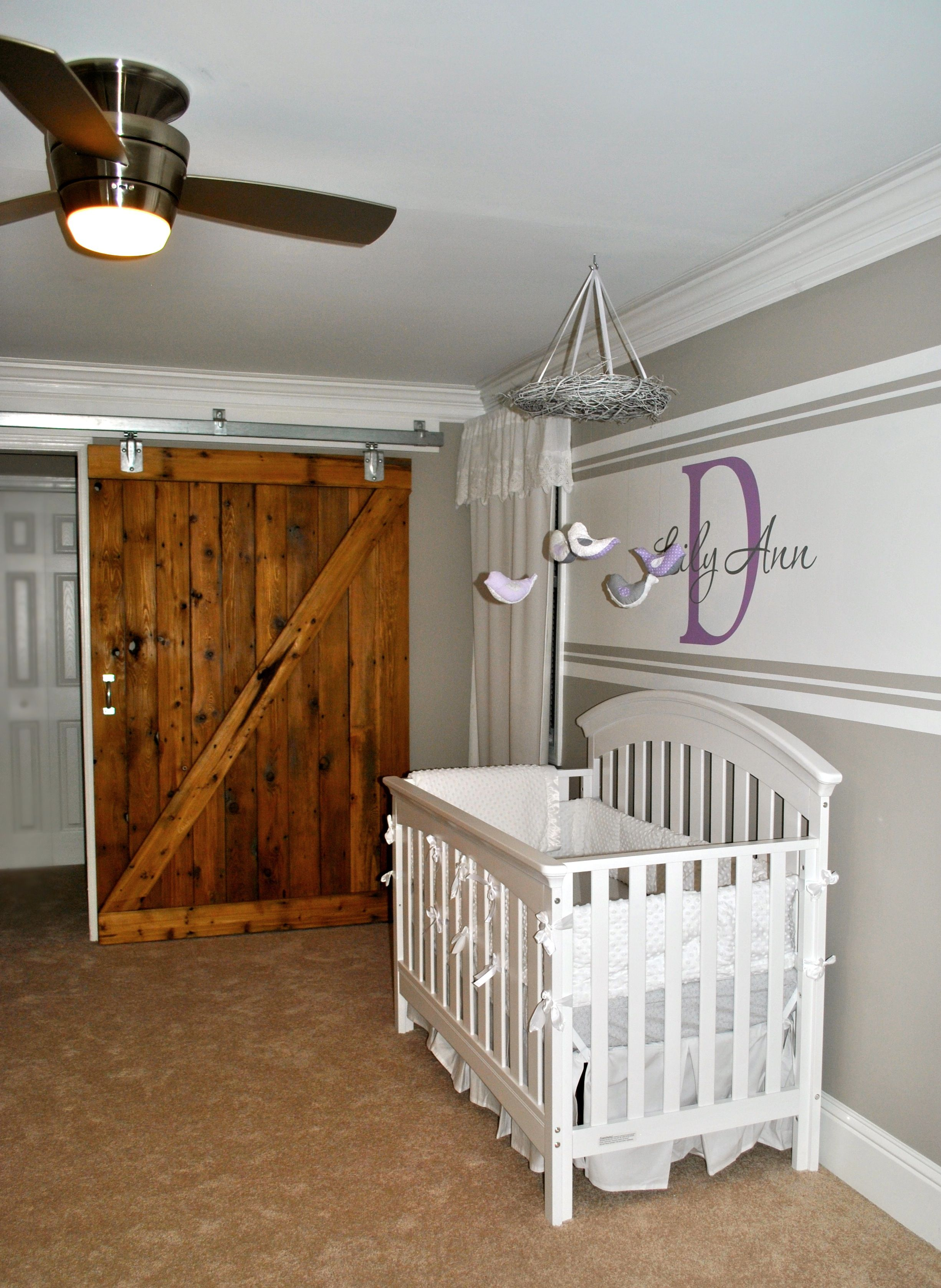 Sliding Barn Door Nursery Courtesy Of Amanda Pilcher Dobanton