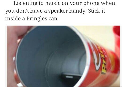 Use a Pringle can with your phone to make a speaker
