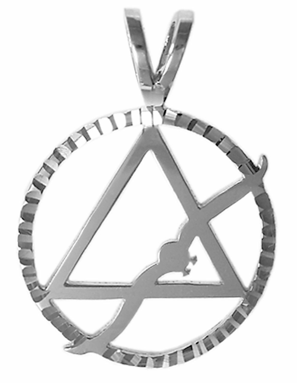 Style 22 4 Sterling Silver Aa Symbol Pendant Wflying Seagull In