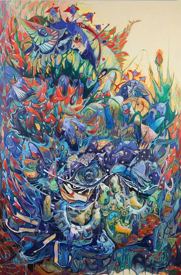 Colorful Psychedelic Paintings Inspired By The Artist S Memories Experiences Designtaxi Com Painting Contemporary African Art Art