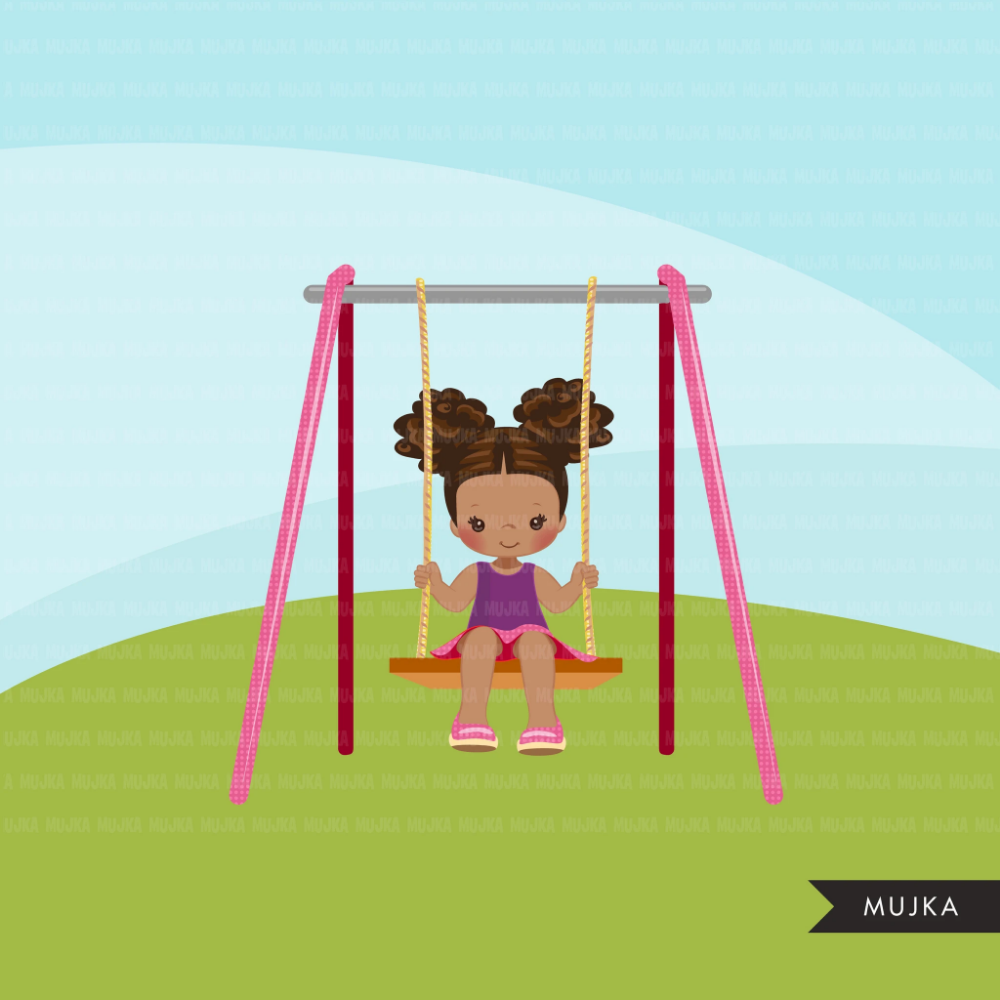 Playground Clipart Black Girl Swinging Spring Outdoors Park Swing Graphics Commercial Use Png Clip Art Girl Swinging Clip Art Park Swings