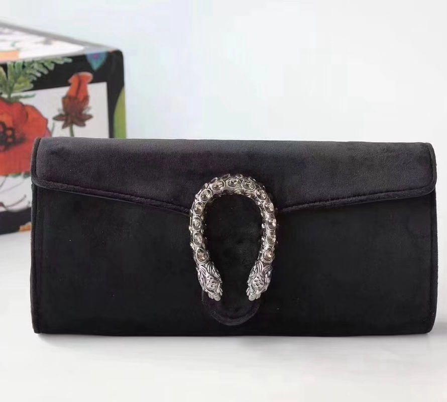 fa8e8abc762 Gucci Velvet Dionysus Clutch Bag 425250 Black 2018