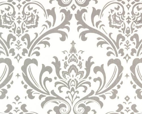 CLEARANCE - Remnant Home Dec Fabric -Traditions Damask, Gray and ...