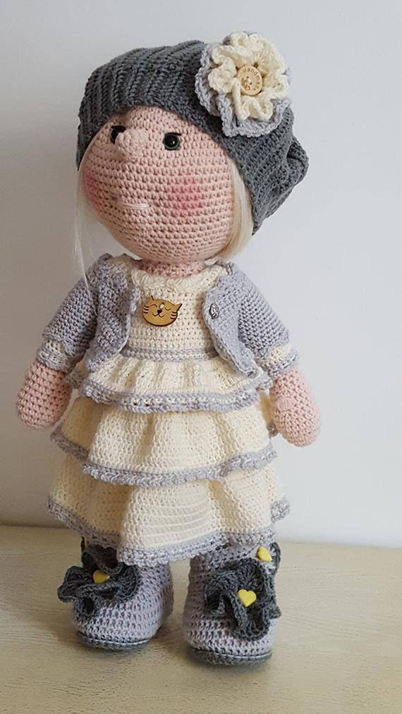 Tutoriel en français, Poupée CHARLOTTE, Crochet, Pattern, Patron ...