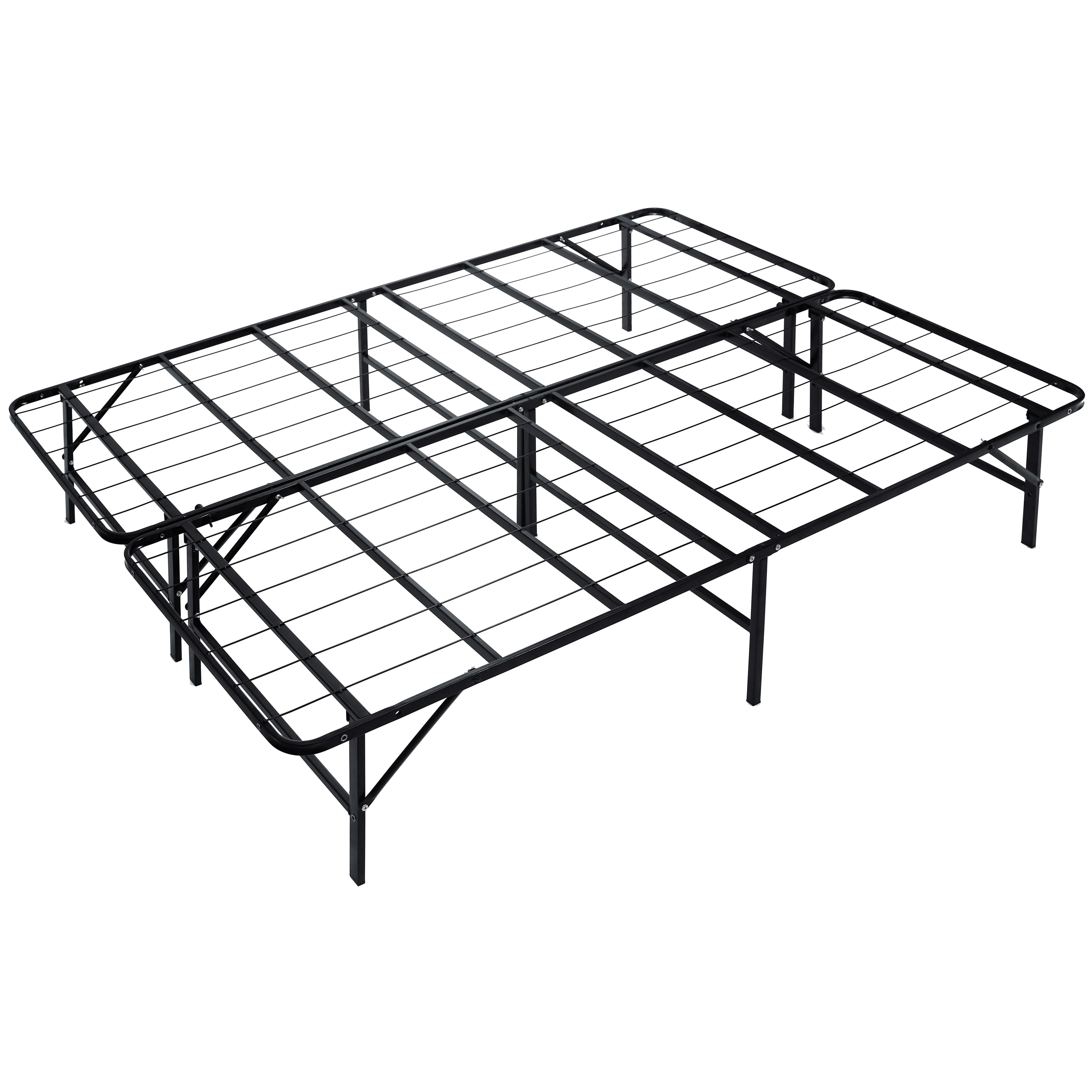 Heavy Duty Queen Size Platform Bed Frame $69 99 Use Coupon Code