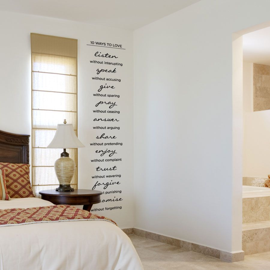 10 Ways to Love Wall Quote Decal | Wall art decal, Walls ...