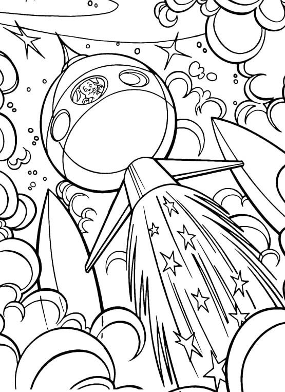 Krypto Go Into Outer Space Coloring Pages | Colouring designs ...