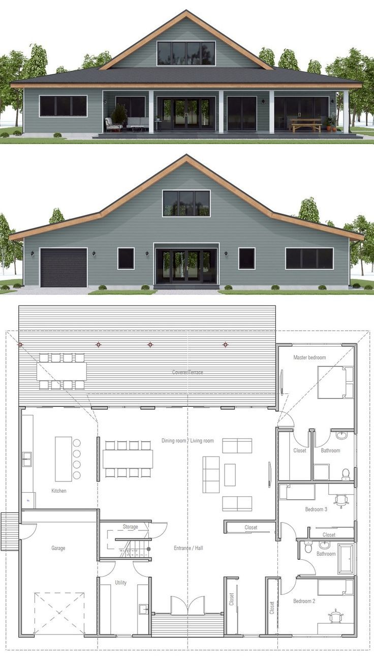 House Plan CH572 - #CH572 #house #metal #Plan #metalbuildinghomes