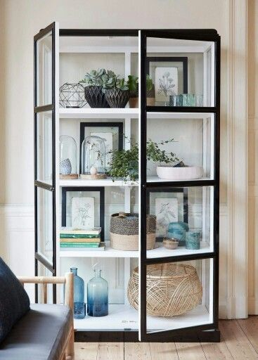 Living Room Glass Display Cabinets Lounge Chair Pin By Kwan Nsk On Interior Cabinet Decor Styles Doors Black