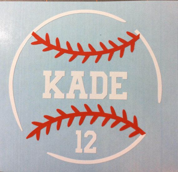 Baseball Decal Helmet Decal Custom Baseball Softball Decal - Custom vinyl baseball decals