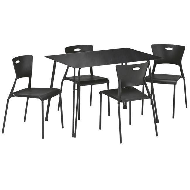 Conjunto mesa 4 sillas lea en conforama mesas de comedor for Sillas comedor conforama