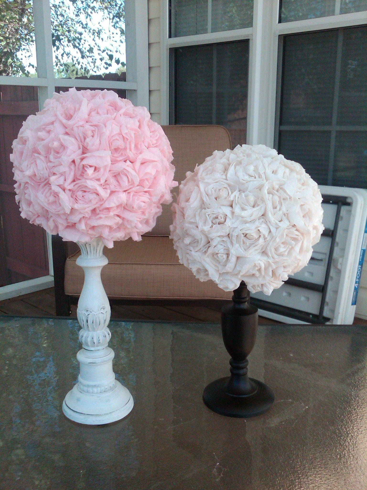 Crepe paper flower balls shower pinterest paper flower ball crepe paper flower balls mightylinksfo