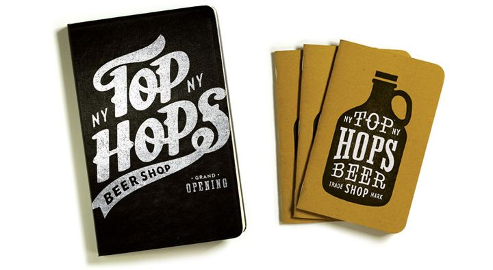 Top Hops Beer Shop brand identity by Helms Workshop