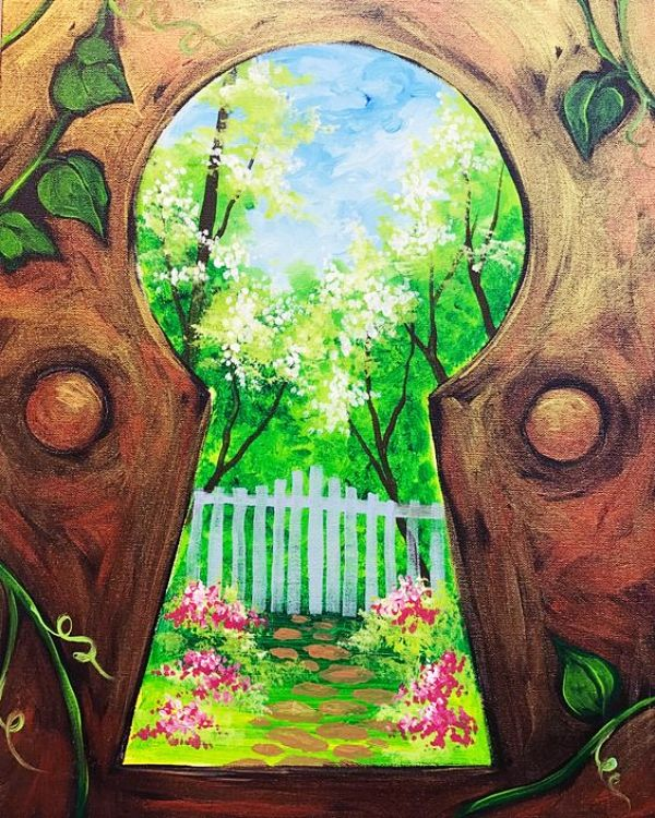 55 Easy Acrylic Painting Ideas on Canvas - Cartoon District #easypaintings