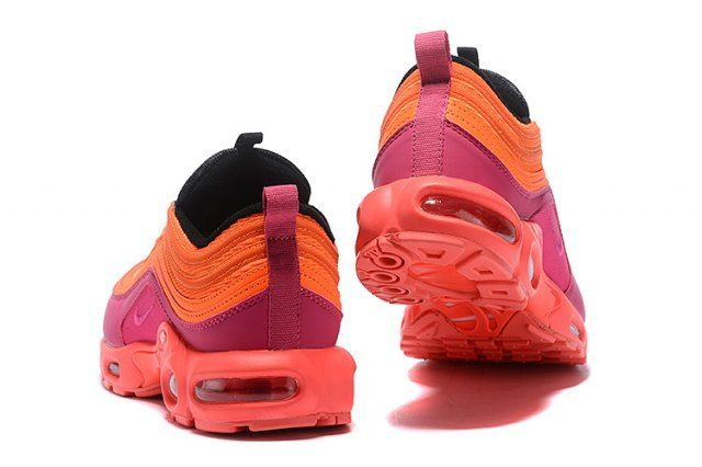 3e9e96ee0d Nike Air Max 97 Plus TN Pink Purple Orange Women's Running Shoes AH8143 600