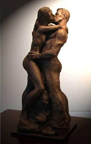 De metales Erótico Estatua de bronce.Sami Nadi Sculptor .