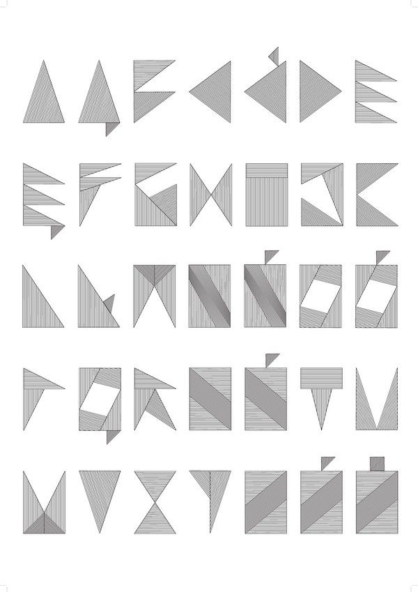 nina gregier - I like how she has arranged the letters into a grid - Service Forms In Pdf