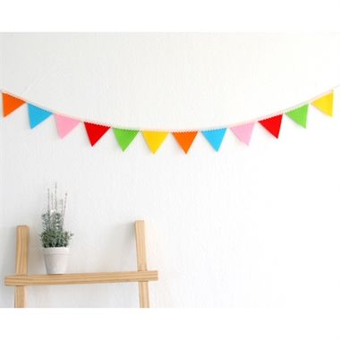 Decorate Your Childu0027s Bedroom With This Gorgeous Rainbow Colour Bunting!