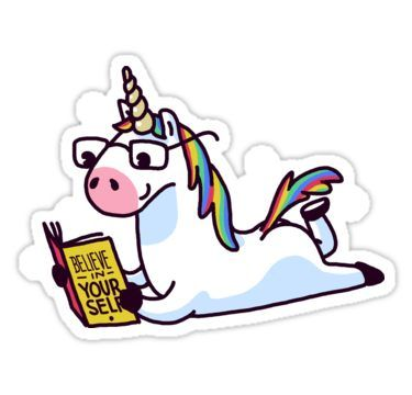 Unicorn believe in yourself magically fabulous ii sticker