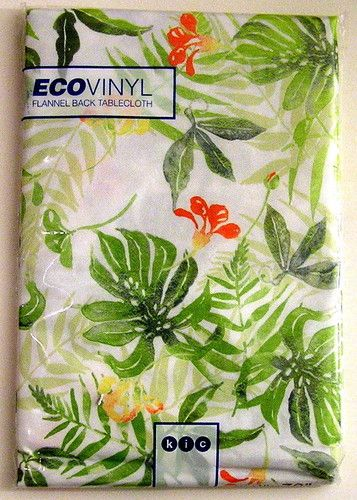 Tablecloth Outdoor Picnic Table Vinyl Tropical Flannel