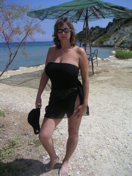 Mature strips on beach