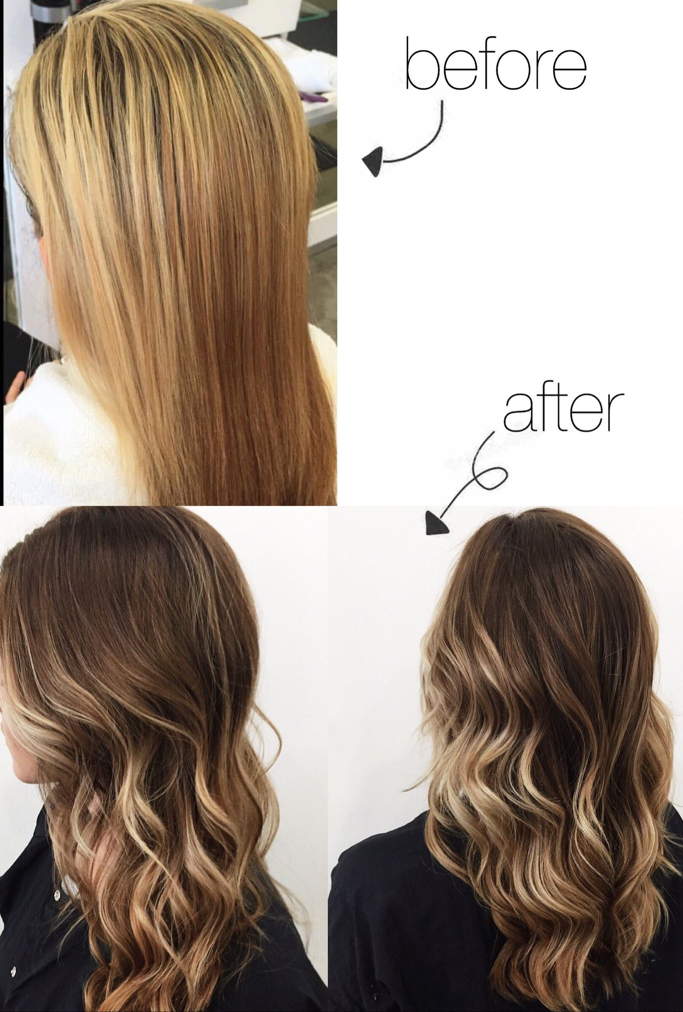 I Finally Am My Own Hair Goals I Went From A Horrible Box Color Highlight Blonde To The Best Ombre Balayag Horrible Hair Hair Color Balayage Balayage Hair