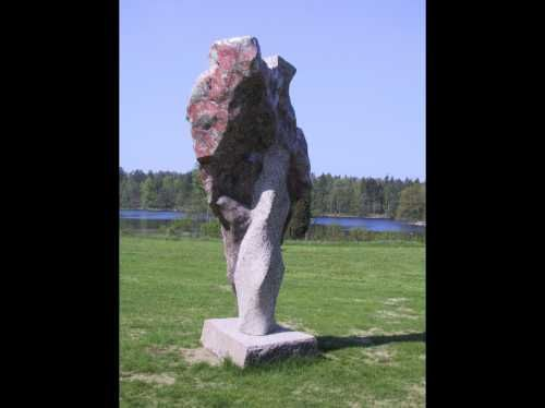 Granite Organic/Abstract #sculpture by #sculptor Ian Newbery titled