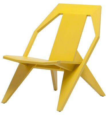 Fauteuil bas Medici Mattiazzi - Jaune | Made In Design ...