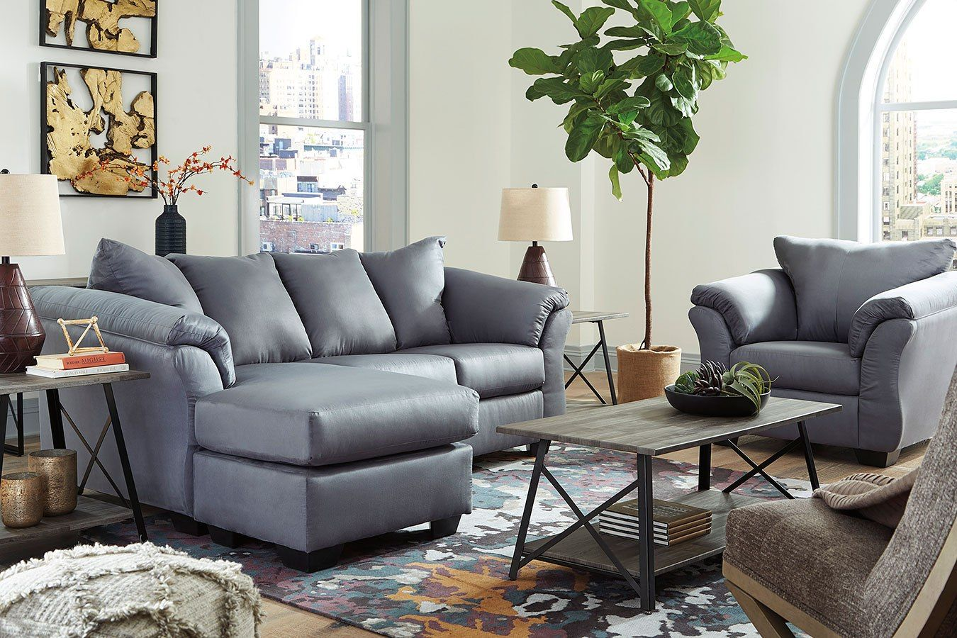 Darcy Steel Sofa Chaise Set Living Room Sets Steel Sofa Small