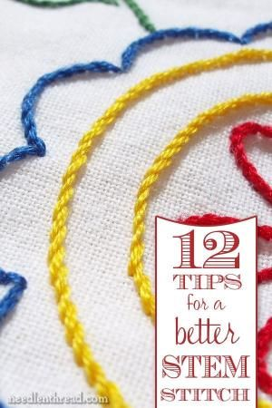 Stem Stitch Is An Easy Beautiful Embroidery Stitch You Can Use It