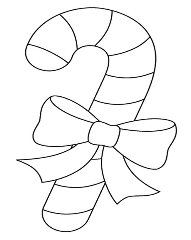 The Big Candy Cane Coloring Page Grandkid Items