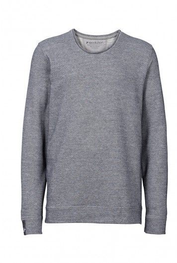 7dac7af9eb3650 recolution organic Sweater Männer blau gesprenkelt fair trade Pullover Bio  Baumwolle