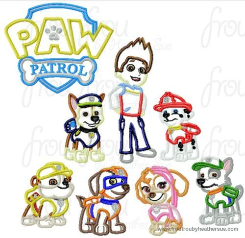 Paw Puppy Dog EIGHT Design SET Machine Applique Embroidery Design Multiple Sizes Including 4 ...