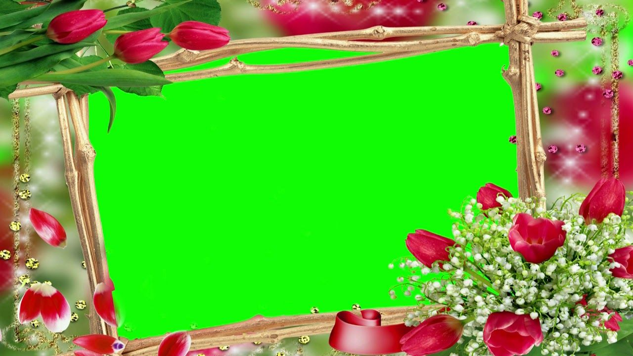 Wedding Background Video Green Screen Flower Frame Chroma Key 811 Green Screen Video Backgrounds Green Screen Footage Frame Download