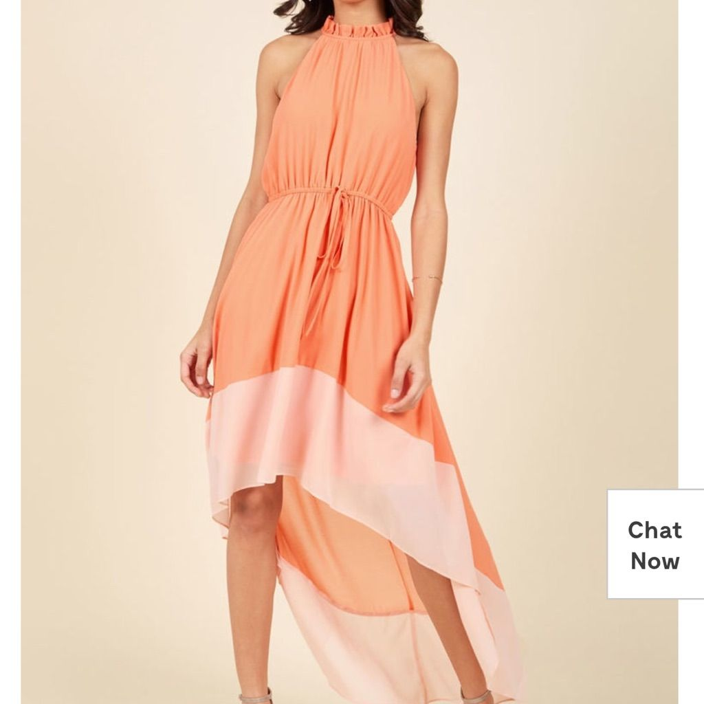 Nwt Modcloth Befitting The Fame Dress In Peach