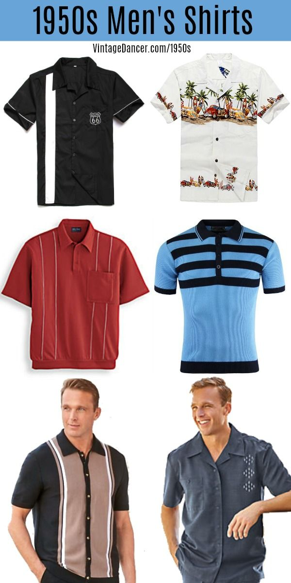26c164fbb4f 1950s Style Men s Shirts- Bowling