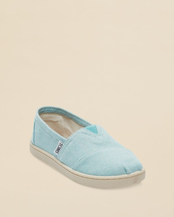 Toms Girls' Chambray Classic Flats - Toddler, Little Kid, Big Kid