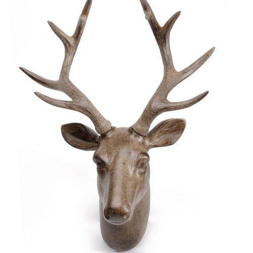 Hertengewei polystone kleur bruin 35x18 5x43cm for Hertengewei nep