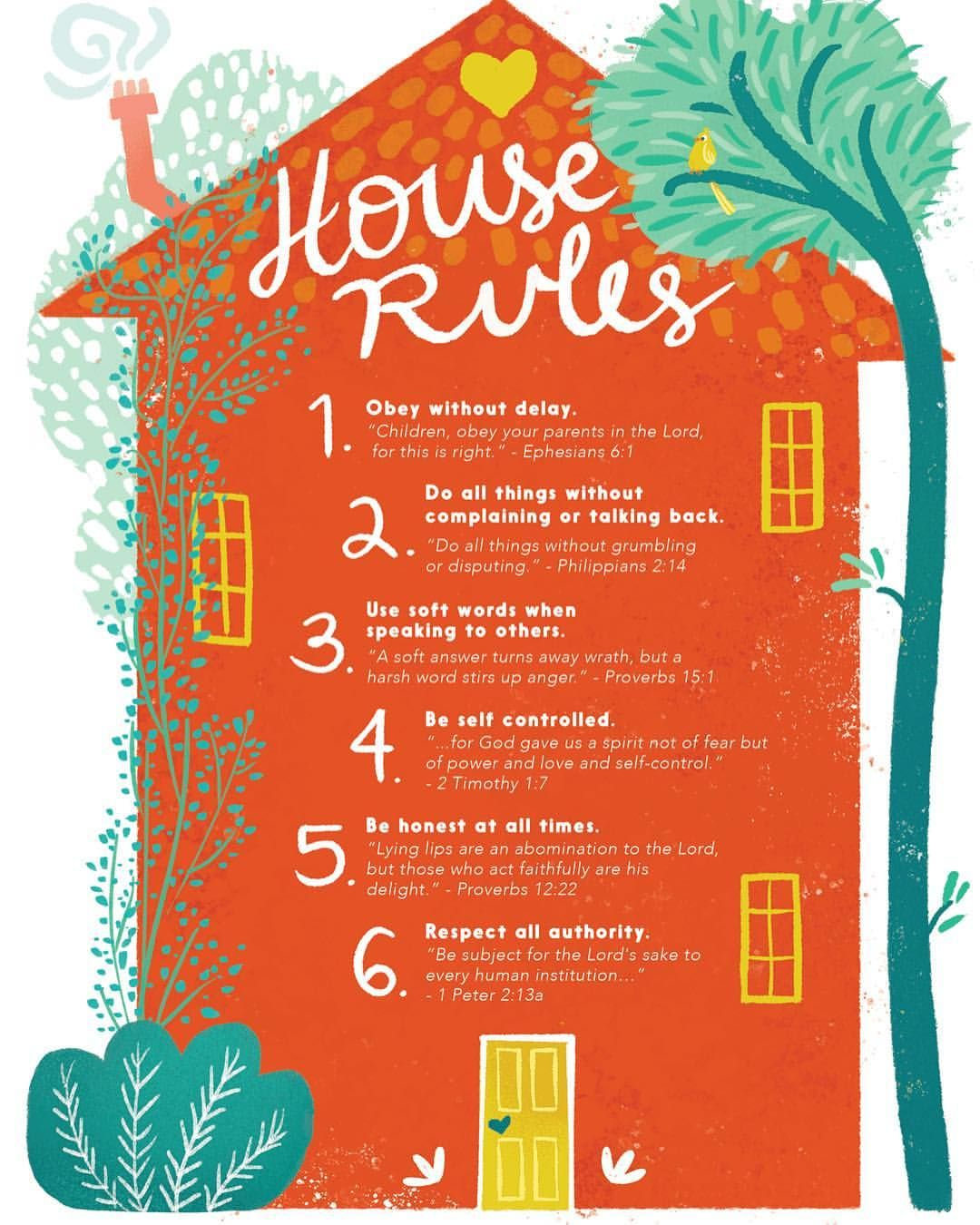 Love Our Free Printable Of House Rules From Bear