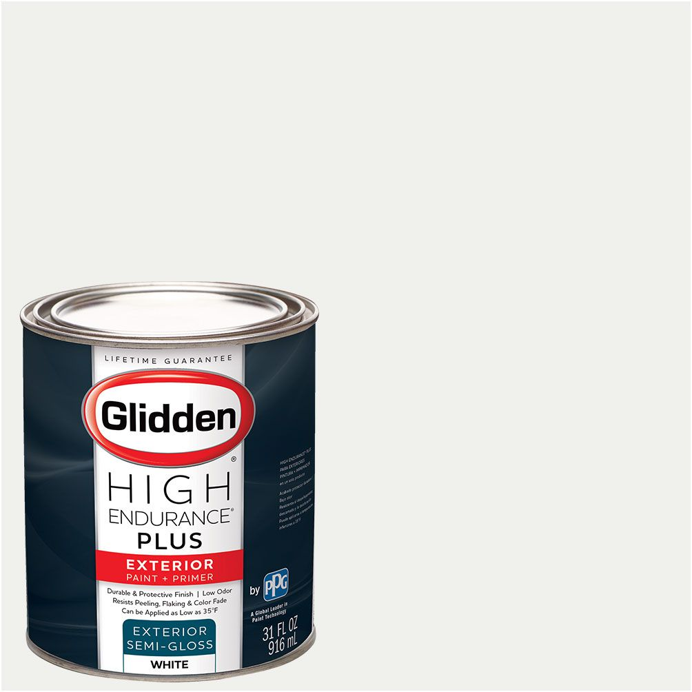 Glidden High Endurance Plus Exterior Paint And Primer Ready Mix White Walmart Com In 2020 Exterior Paint Glidden Painting Vinyl Siding