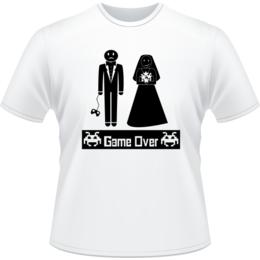 908b40f24 Camiseta Game Over Noivos