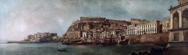 Italie, Naples, 2e moitié du XVIIIe Vue de Santa Lucia à Naples