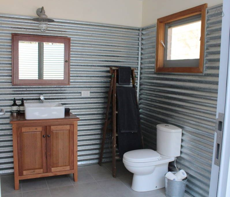 Pictures of sheds turned into homes in australia google for Shed bathroom designs