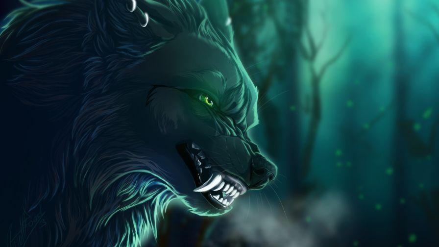 Dangerous Wolf Eyes Art Wallpaper Free Download High Quality Fantasy Wolf Wolf Eyes Creature Artwork