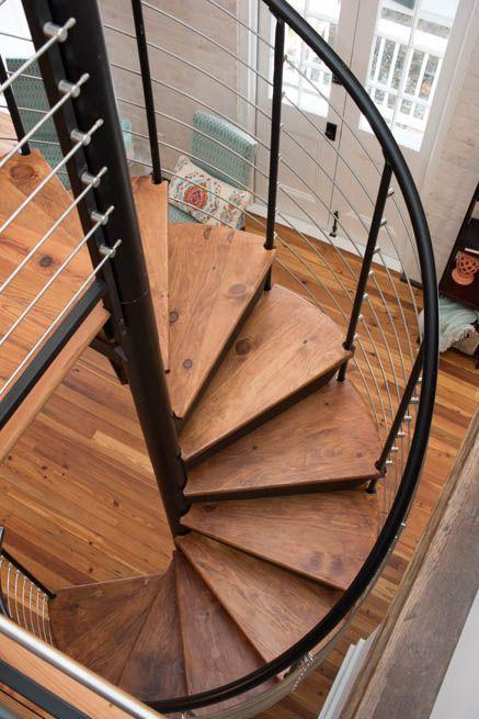 Best The Bradley Custom Railing Spiral Stairs Wood 400 x 300