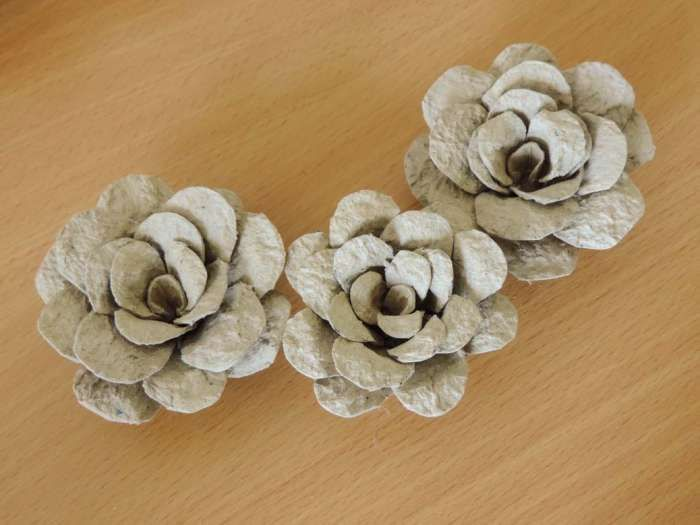 Tutorial egg carton roses diy flower decorations Egg carton flowers ideas