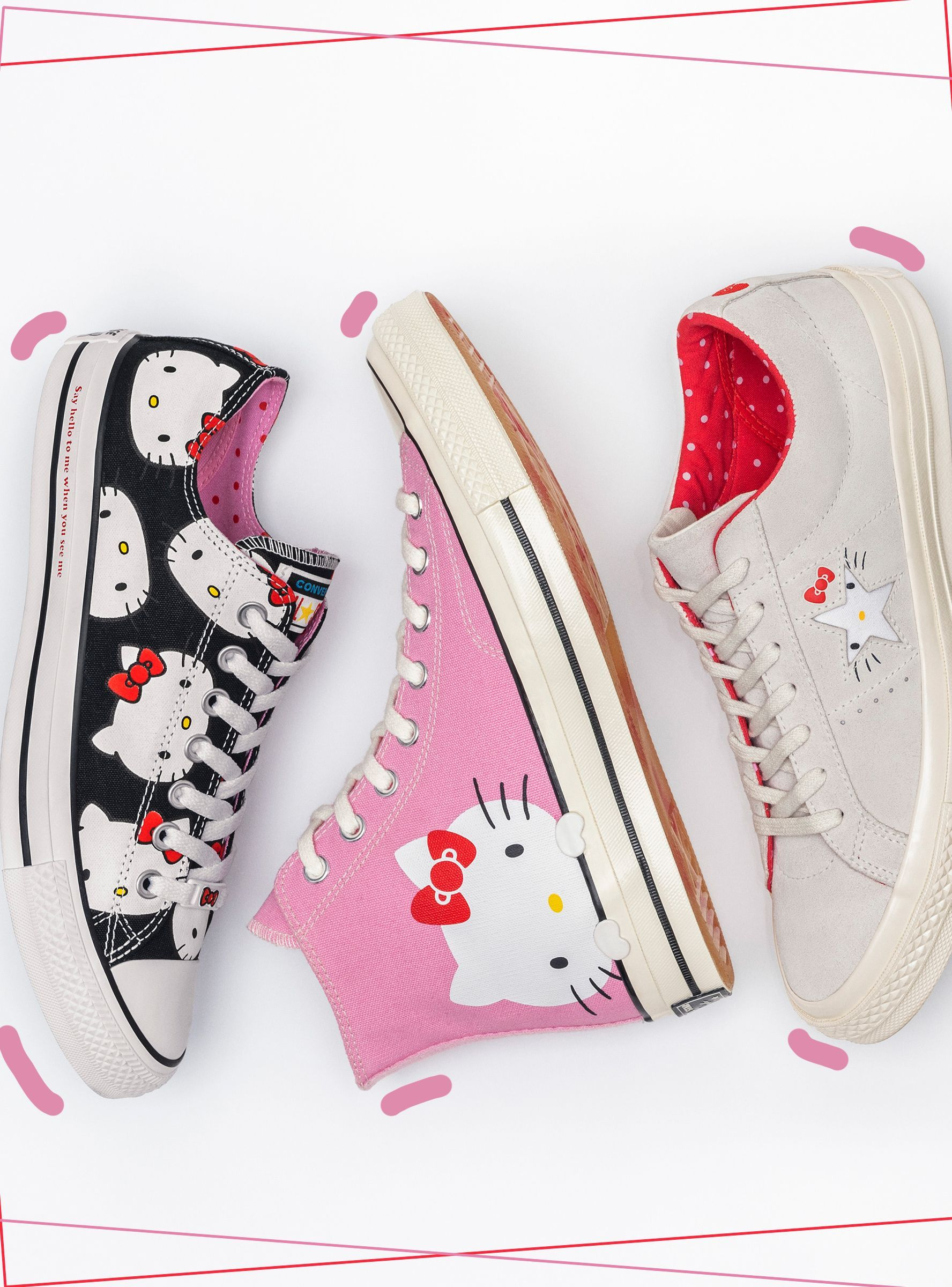 half off 93abe 68011 Hello Kitty s Converse Collaboration Is Purrfect https   r29.co 2AZi2yc  Hello